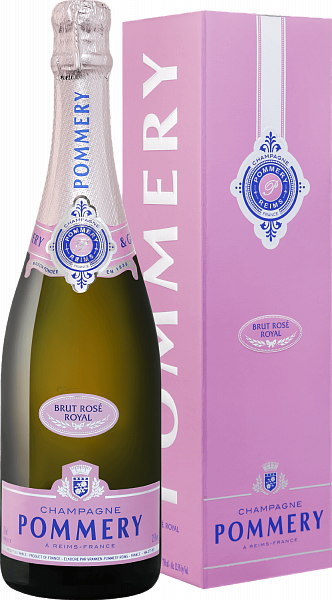 Pommery Brut Rose Royal Champagne AOP (gift box), 0.75л