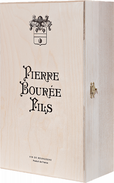Gift box Pierre Bouree Fils for 2 bottles, birch