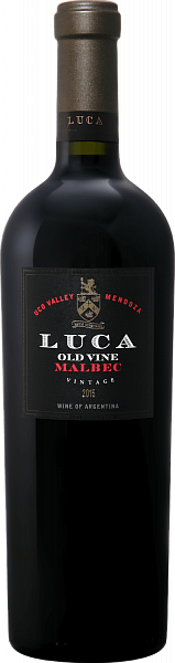 Old Vine Malbec Uco Valley Luca Winery , 0.75л
