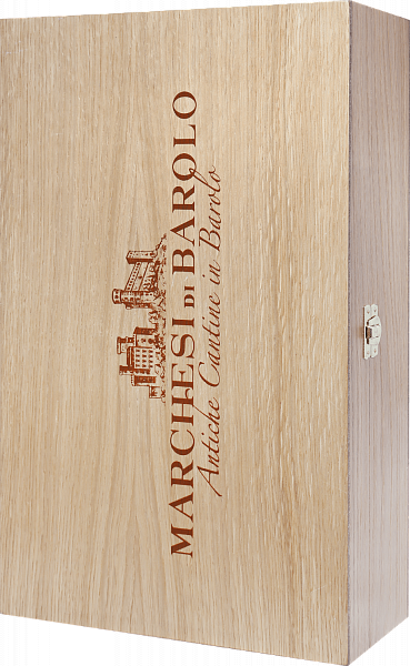 Gift box Marchesi di Barolo for 2 bottles, oak